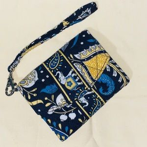 Vera Bradley Wallet Wristlet Phn Holder-Ellie Blue